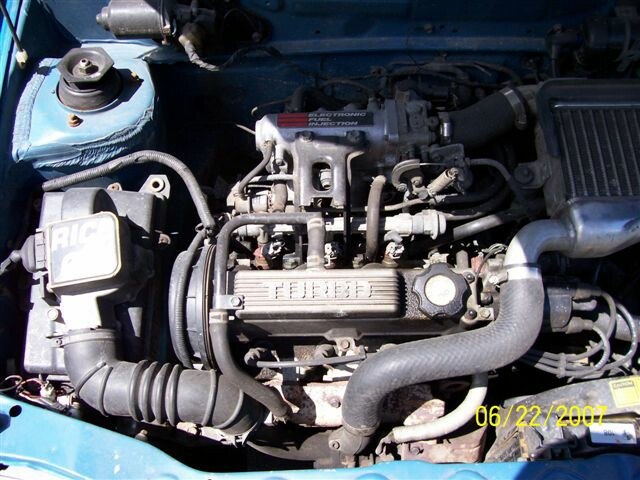 pic of a 3 cylinder turbo in a Blue  Firefly Convertible