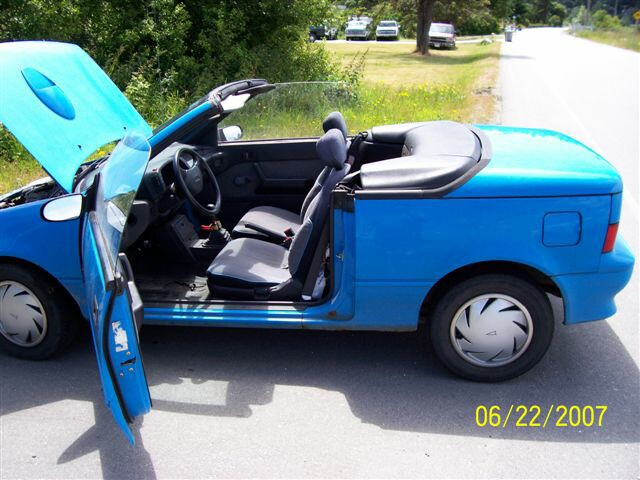 pic of a Blue  Firefly LE Convertible